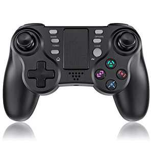 TUTUO PS4 Controller for Playstation 4, Wireless Bluetooth Gaming Joystick with Six-axis,Dual Vibration Shock Joystick Gamepad for PS4/PS4 Pro/Slim(Black)