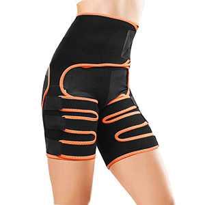 HLOMOM Waist Trimmer Belt, 3-in-1 Waist Trainer Thigh Trimmer with Butt Lifter for Women (L-XL)