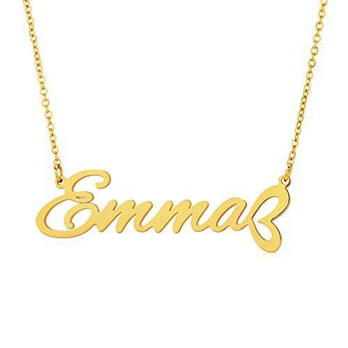LILIE&WHITE Emma Gold Custom Name Necklaces Personalized Name Necklaces for Women Initial Necklaces Pendant For Girls Fashion Jewelry Gift