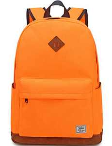School Backpack,Mygreen Unisex Classic Water-resistant Backpack for Men Women Orange
