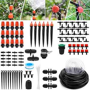 Yummy Sam Micro Drip Irrigation Kit,30m/100ft Adjustable Automatic Garden Irrigation System Adjustable Watering Kit for Garden Greenhouse,Flower Bed,Patio,Lawn