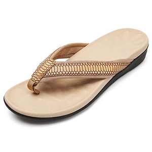 UTENAG Womens Arch Support Flip Flops Orthotic Sandals
