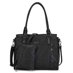 Hobo Bags for Women Pu Leather Purses and Handbags Large Hobo Purse with Tassel (KL2229 401#BLACK) (11KL7191 N62 BLACK)