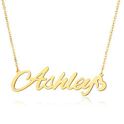 LILIE&WHITE Ashley Gold Custom Name Necklaces Personalized Name Necklaces for Women Initial Necklaces Pendant For Girls Fashion Jewelry Gift