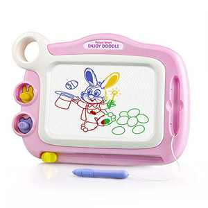 EHO Learning Toys for 3 4 5 Year Old Girls, Doodle Board Homeschool Supplies for Kids Age 3-5 Educational Toys for 3 Year Old Girls Gifts Magnetic Drawing Board, Pink
