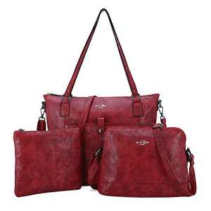 Women Shoulder Handbag Purse Top-Handle Hobo Roomy Casua Ladies' Shoulder Bag Fashion PU Tote Satchel Bag for Women (1KL2226 RED)