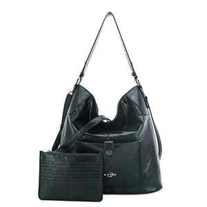 Women Shoulder Handbag Purse Top-Handle Hobo Roomy Casua Ladies' Shoulder Bag Fashion PU Tote Satchel Bag for Women (KL5208 DEEP GREEN)