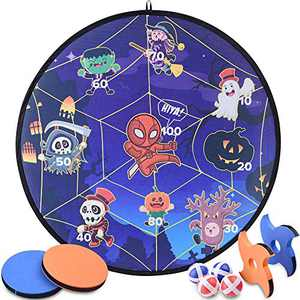 RaboSky Collapsible 30 Inch Diameter Dart Game Board, Party Favors Supplies for Kids Ages 6 7 8 9 10 11 12 Year Old, Gift for Christmas, Birthday