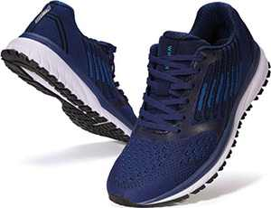 JOOMRA Mens Running Sneakers Walking Workout Gym Jogging Shoes Size 10 Blue Casual Knit Cool Treadmill Trekking Athletic Male Runny Tennis Comfortable Footwear 44