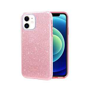 iPhone 11 Case, ABenkle Slim Fit Protective Case for Girls and Women Bling Glitter Sparkle Soft Shell High Impact Hybrid Shockproof Rubber Bumper Cover for iPhone 11 6.1-Inch 2019, Rose Gold