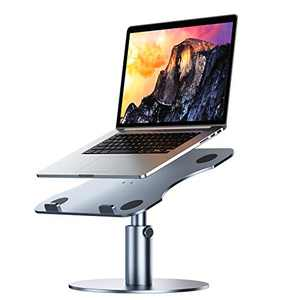"Adjustable Laptop Stand, YoFeW Aluminum Laptop Riser, Multi-Angle Height Adjustable 360°Rotation Notebook Stand Desktop Holder Compatible with Mac MacBook Pro Air, Lenovo, Dell XPS, HP(10-17"")"