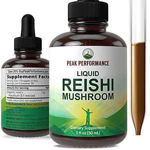 Liquid Reishi Mushroom Extract - Made with Organic Reishi Vegan Mushrooms. Tincture Supplement for Immune Support, Memory, Focus, Brain. Canadaian Grown Ganoderma Lucidum Mushrooms Drops Elixir