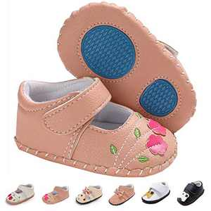 Infant Baby Girls Sneakers, Premium Soft Rubber Sole Anti-Slip Summer Toddler Flats First Walkers Shoes