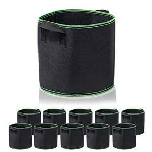 Garden4Ever 10-Pack 3 Gallon Grow Bags Heavy Duty Container Thickened Nonwoven Fabric Plant Pots with Handles