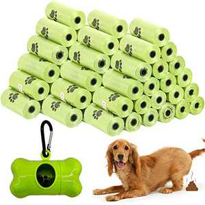 Dog Poop Bags Wholesale Disposable Pet Waste Bags with Dispenser 120 Bags 8 Rolls+1 Dispenser Green V08