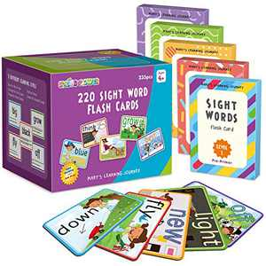 SpringFlower Sight Words Flash Cards with Pictures,Motions&Sentences, 220 Dolch Sight Words for Preschool, Kindergarten, 1st, 2nd & 3rd Grade.Homeschool, Learn to Read, Phonics Learning,235 Pieces