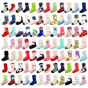 20 Pairs Baby Boy Girl Socks Wholesale Baby Cotton Socks Bulk Toddler Kids Socks Bundle (Pattern at Random) Girls 1-3T