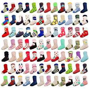 20 Pairs Baby Boy Girl Socks Wholesale Baby Cotton Socks Bulk Toddler Kids Socks Bundle (Pattern at Random) Boys 0-12 Months