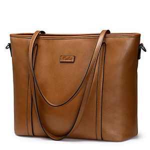 Newshows Travel Tote Bag for Women Work Large PU Leather Shoulder Purse Handbag