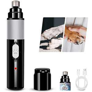 Xisunred Dog Nail Grinder,Pet Nail Grinder, Adjustable Power 2-Speed Electric Rechargeable Pet Nail Trimmer Painless Nail Trimmer Grooming & Smoothing for Large Small Medium Dogs & Cats