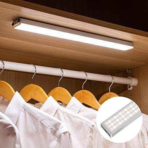 [Upgraded] 138 LED Closet Light Motion Sensor Wireless Under Cabinet LED Lighting Portable Magnetic 3M Adhesive with Large Capacity Battery USB Charge for Stairs,Wardrobe,Kitchen,Hallway