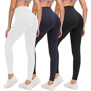 ZOOSIXX High Waisted Leggings for Women - Athletic Soft Tummy Control Yoga Pants for Workout Running Cycling
