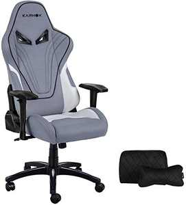 KARNOX Hero Gaming Chair Desk Ergonomic Desk Chair Racing PC Chair High-Back Executive Office Chair with Headrest and Lumbar Support and 360° Swivel Fabric Mesh Chair Grey
