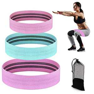 HSicily Resistance Bands for Legs and Butt, Glutes Exercise Bands Set Booty Fitness Belts Fabric Hip Workout Bands Anti Slip Elastic for Squat, Thighs Training, Yoga, Strength
