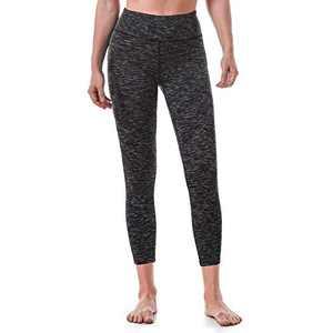 Ritiriko Women's Yoga Pants High Waisted Crop Workout Running Leggings Tummy Control Yoga Capris