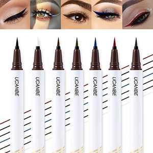 UCANBE 7 Color Precise Definer Liquid Eyeliner Set Waterproof Long Lasting Eye Liner Pen with Flexible Felt Tip Professional Smudge Proof Hypoallergenic Multi Colored Makeup Pen