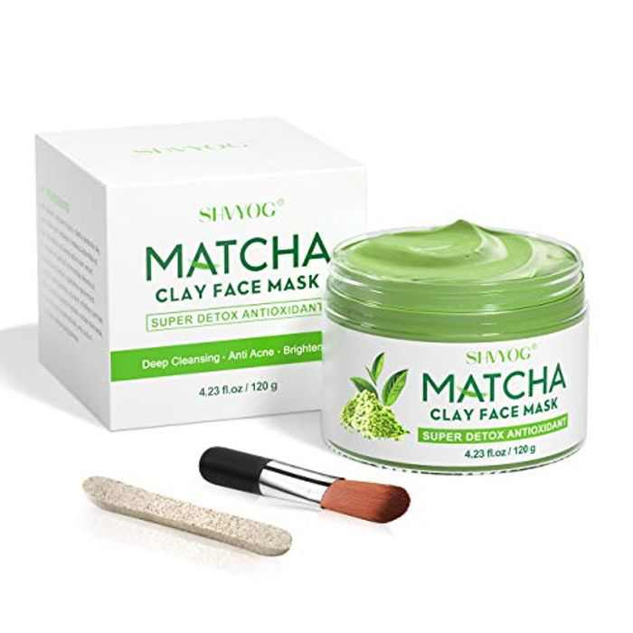 Matcha Clay Face Mask - SHVYOG Antioxidant Detox Face Green Tea Mask with Volcanic Mud, Deep Cleansing Moisturizing Hydrating Facial Mud Mask for Acne, Blackheads, Pores