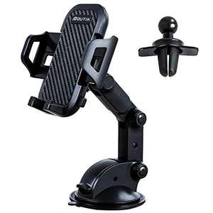 Moutik Car Phone Dashboard Mount: 3 in 1 Universal Safety Air Vent Windshield Car Phone Holder Strong Stable Grip 360° Rotation Car Mount Compatible with iPhone, Samsung S21 S20 Huawei LG Smartphones