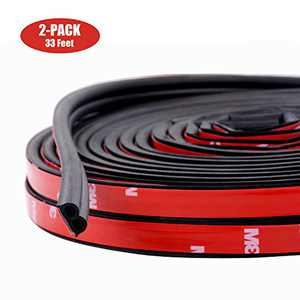 Funlove 33ft Universal B Type Rubber Automotive Window Seals 51/100 Inch Wide X 1/5 Inch Thick