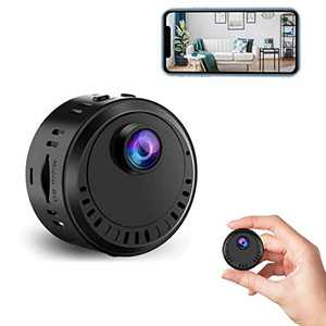 Spy Camera 4K HD Hidden Camera Mini Wireless Spy Cam Portable WiFi Nanny Cam with Phone App Night Vision Motion Detection Smallest Security Surveillance Cameras for Pet Indoor Home Apartment Office