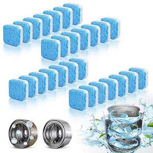 28Pcs Washing Machine Cleaner,Lavender Washer Machine Cleaner,Fresh Laundry Washer Cleaner, Deep Triple Stain and Deodorizer,Effervescent Tablets for Front Load and Top Load Washing Machines (28Count)