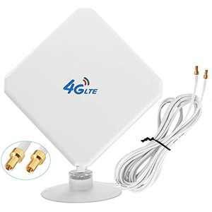4G LTE Antenna,WiFi Antenna,35dBi Panel MIMO TS9 Antenna 3G/GSM WiFi Signal Booster Amplifier Antenna for 4G LTE Router Cellular Gateway Modem Huawei Mobile Hotspot Verizon Jetpack Netgear Nighthawk