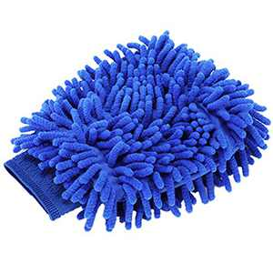 TYONMUJO Car Washing Mitt Microfiber Chenille Gloves Scratch-Free Wash Kit Blue 1 Pack
