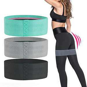Allfourior Exercise Resistance Bands for Legs and Butts - 3 Set Workout Anti-Slip Resistance Fabric Booty Band for Men & Women