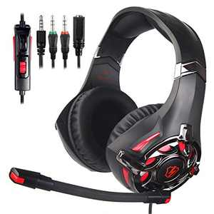 Xbox Headset, Stereo Gaming Headset with Mic for PS4, PS5, Xbox One, PC, Mobile, Switch, 3.5mm Jack Noise Cancelling Gamer Headphones Lightweight Over Ear Headphones