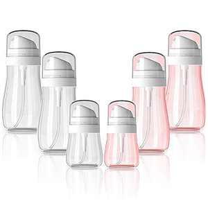 6 Packs Spray Bottle, Iteryn Refillable Travel Spray Bottle Fine Mist for Skincare Makeup Lotion, Cosmetic Mist Sprayer for Toner (100ml & 50ml)