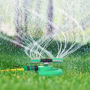 Hinastar Lawn Sprinkler, Automatic Garden Water Sprinkler, Upgrade 360 Degree Rotation Irrigation System, Large Area Coverage, Sprinkler for Yard, Lawn, Kids and Garden