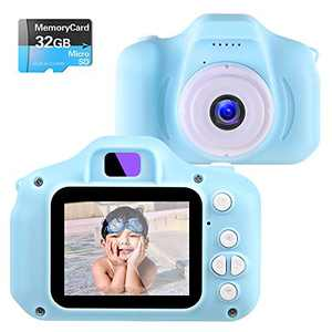 NINE CUBE Kids Toys Children Digital Camera for 3-8 Year Old Boys Girls Kids Action Camera ,Toddler Video Recorder 2 Inch 1080P Birthday Gifts for 3 4 5 6 7 8 Year Old Kids (32G SD Card Included