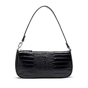 TOBOTO Retro Classic Clutch Croc Tote Bag Shoulder HandBags, Crocodile Purses with Zipper Closure for Women…