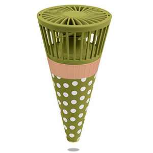 Mifanstech Mini Fan, Portable Handheld Fan with 3 Speeds, Powerful Ice Cream Cone Personal Fan, USB Rechargeable Small Fan can be Hung around the Neck for Home School Office Travel (Matcha Green)
