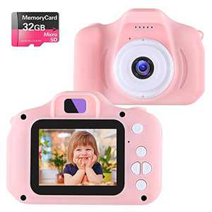 NINE CUBE Kids Camera Digital Camera for 3-8 Year Old Girls,Toddler Toys Video Recorder 1080P 2 Inch,Children Camera Birthday Festival Gift for 3 4 5 6 7 8 Year Old Boys(32G SD Card Included)