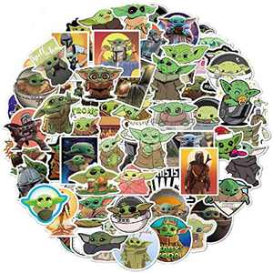 72 Pcs Baby_Yoda Stickers | Baby_Yoda Gifts | 2 - 4 Inch Big Vinyl Waterproof Bomb Sticker for Water Bottle Laptop Decor | Best Birthday Childrens Day Gift Ideas for Kids Grandsons