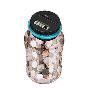Large Capacity Piggy Bank for Kids LCD Display Digital Coin Counter Money Bank for All US Coins, Gift on Holidays, Coin Counting Money Pot,Birthday Gifts for Girls, Boys, Children
