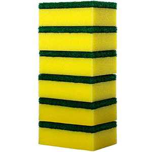 Scrub Sponge Dish Wash Pad Non-Scratch Cleaning Sponges for Kitchen Bathroom Heavy Duty 6 Pack