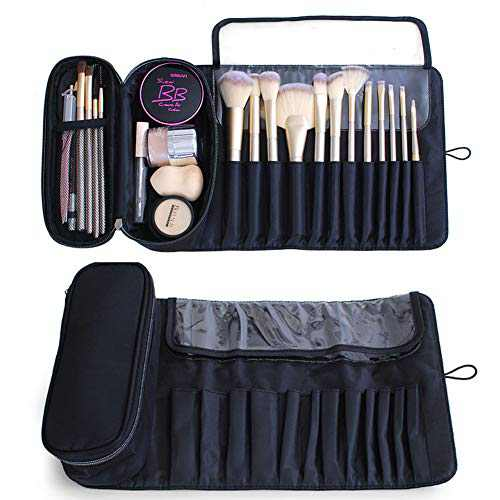 Moricher Makeup Brush Bag with 12 Brushes Slots and Cosmetic Storage Bag for Travel Portable