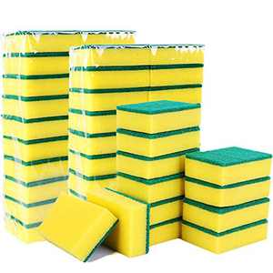 Scrub Sponge Dish Wash Pad Non-Scratch Cleaning Sponges for Kitchen Bathroom Heavy Duty 24 Pack